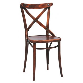 No. 150 Rustic Dark Wood Chair