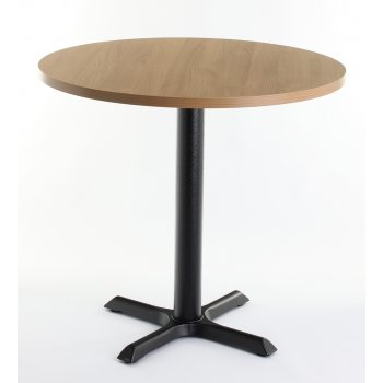Oak Top Round Dining Table