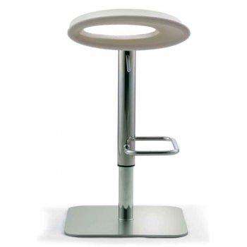 Oval Cream Seat and Flat Base Barstool
