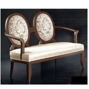Oval Transitional 2 Seater Sofa