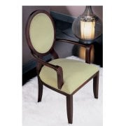 Oval Transitional Cream Seat Classic Chair