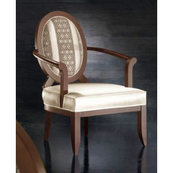 Oval Transitional Striped Back Classic Chair