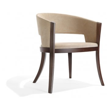 Pascia PO 02 Dark Wood Arm Chair NL