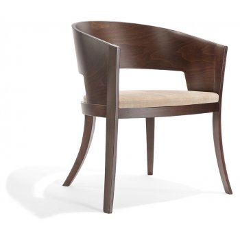 Pascia PO 03 Dark Wood Arm Chair NL