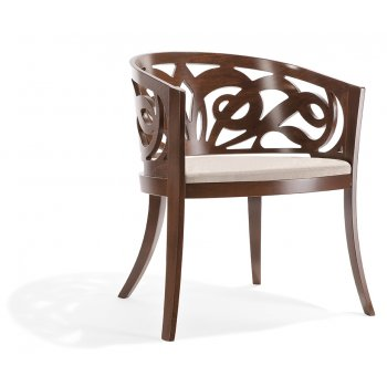 Pascia PO Dark Wood Arm Chair NL
