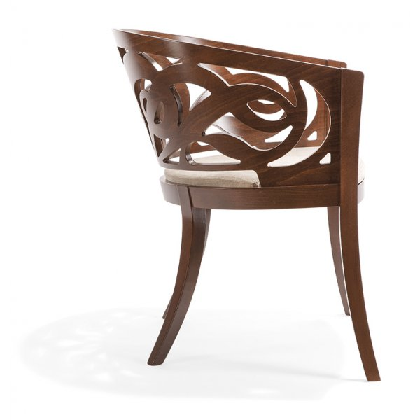 Pascia po dark wood arm chair nl from ultimate contract uk