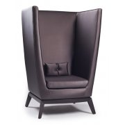 Pasha Maple Dark Upholstered Lounge Chair
