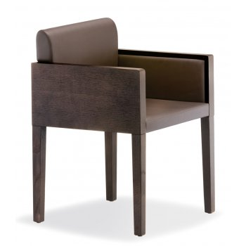 Pedrali Collection Box Dark Wood Armchair 742 PED