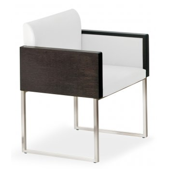 Pedrali Collection Box White and Black Armchair 740 PED