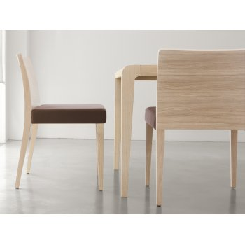 Pedrali Collection Glam Light Wood Side Chair 430