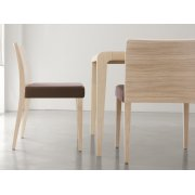 Glam Light Wood Side Chair 430