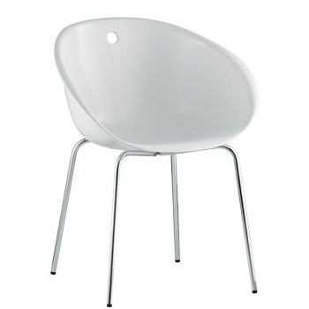 Pedrali Collection Gliss White Tub Side Chair 900
