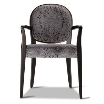 Perla Dark Wood Armchair