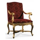 Dark Upholstered Classic Chair 0350P