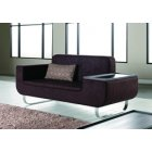 Tray Stylish Metal Frame Upholstered Sofa