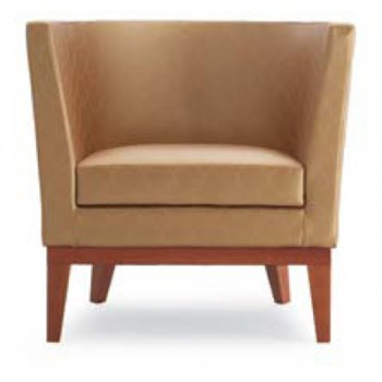 Regime Light Wood and Light Upholstered Lounge Chair