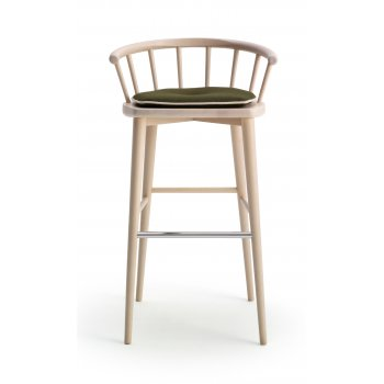 Scana Light Wood Barstool