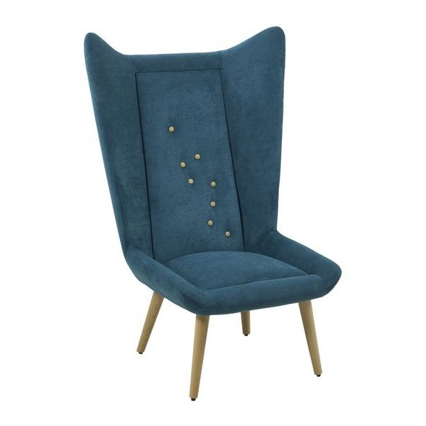 Scana Navy Blue Winged Lounge Chair from Ultimate Contract UK