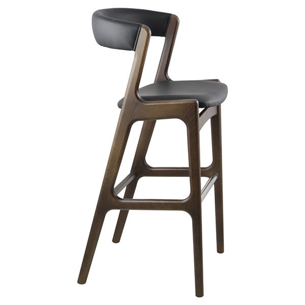 Shoreditch Dark Wood Bar Stool from Ultimate Contract UK