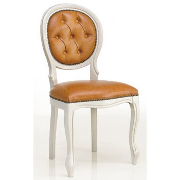 Silver andf Light Brown Upholstered Chair 0205S