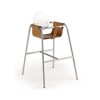 'Sonny' Metallic and Upholstered Chidrens Highchair