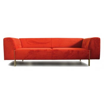 Spot Red 3 Seater Sofa