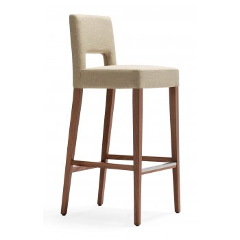 Stella Dark Wood Bar Stool TL