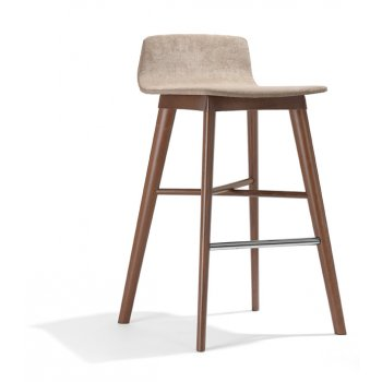 Tecla Dark Wood Barstool NL