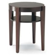 Thesi Dark Wood Round Table