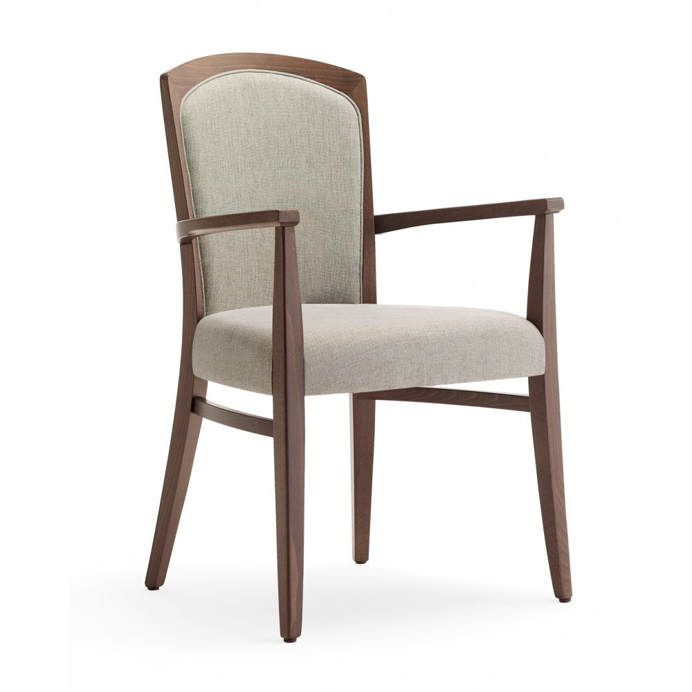 Tiffany Dark Wood Arm Chair - from Ultimate Contract UK