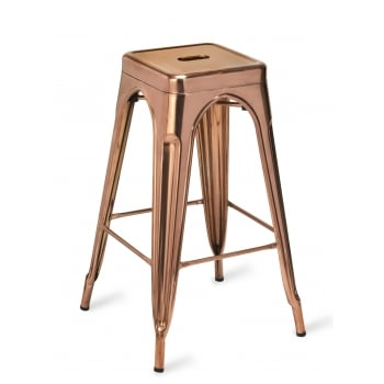 Toulon Barstool Polished Copper GLF