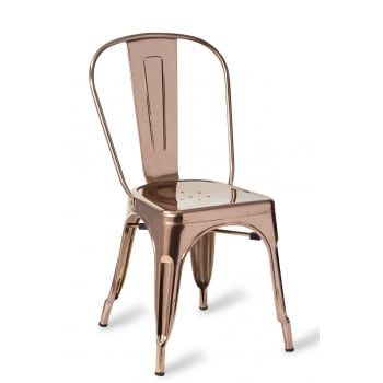 Toulon Side Chair Polished Copper GLF
