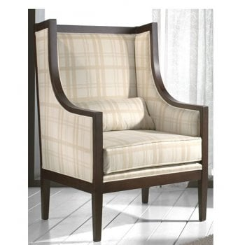 Transitional Cream Patterned Throne