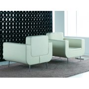 Tray White Lounge Chair
