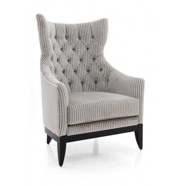 Vanity upholstered wingback chair from ultimate