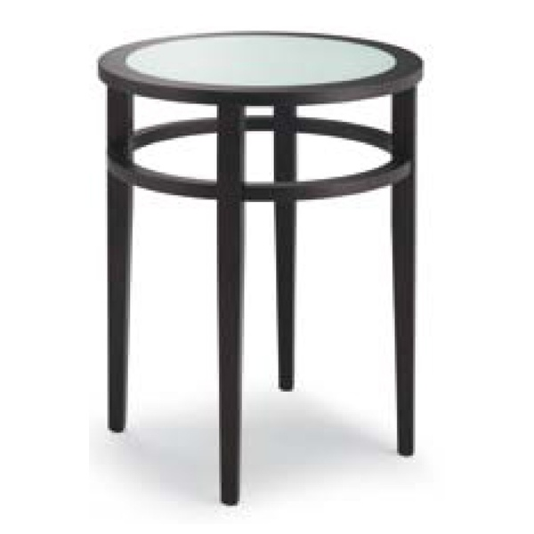 Visions Frosted Glass Black Coffee Table from Ultimate Contract UK