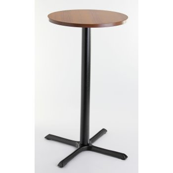 Walnut Top Round Poser Table