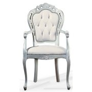 White and Silver Classic Chair 0209A