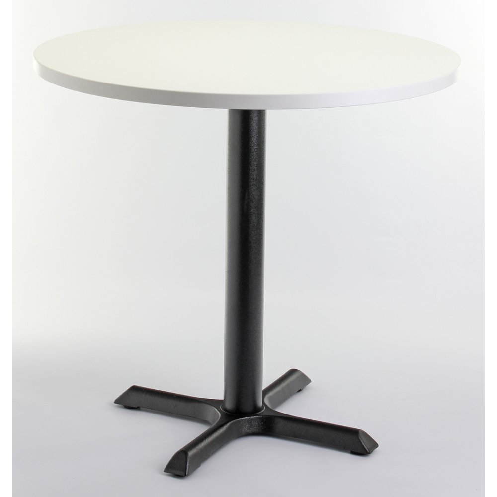 White top round dining table from ultimate contract uk for Best dining round tables