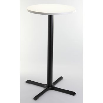 White Top Round Poser Table