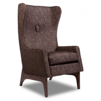 York Brown Upholstered Chair