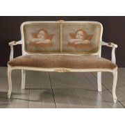 Zeta Patterned Upholstered 2 Seater Sofa