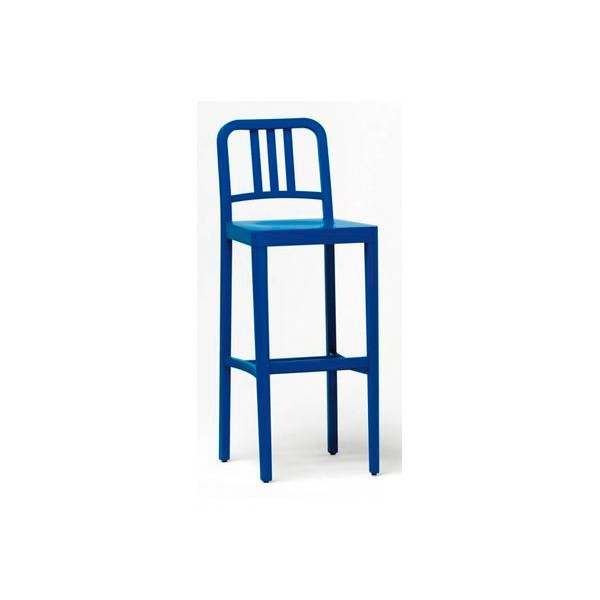 Co2 301 Blue Wood Barstool From Ultimate Contract Uk
